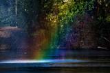 Fototapeta Rainbow - tęcza nad jeziorem