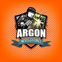 Argon Welding Logo Template Design
