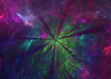 3D Rendering Abstract Fractal Light Background.