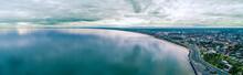 Port Phillip Bay Coastline Near Frankston Suburb In Melbourne, Australia - Wide Aerial Panorama