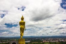 Golden Buddha Statue Standing ...