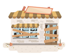 Abandoned Store Illustration