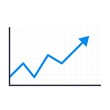 Growth chart. Vector icon on a white background.