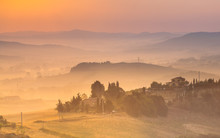 Tuscan Country Scenery Color C...