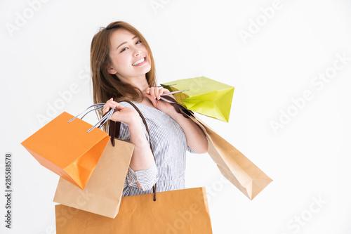 Fototapeta 買い物をする女性 obraz