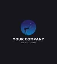 Milky Way Stars Night Sky Photography Logo Template