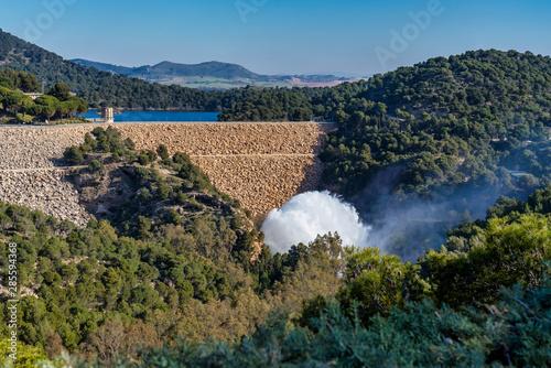 Lake Embalse del Guadalhorce, Ardales Reservoir, Malaga, Andalusia, Spain Wallpaper Mural
