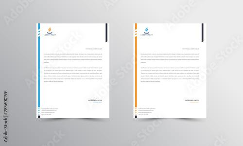 Fototapeta orange and blue Letterhead Design Template - vector obraz