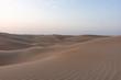 canvas print picture - Arabische Sandwüste bei Sonnenaufgang
