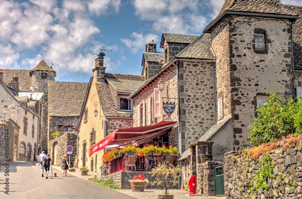 Fototapeta Salers, Cantal, France