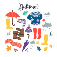 Set Of Autumn Clipart