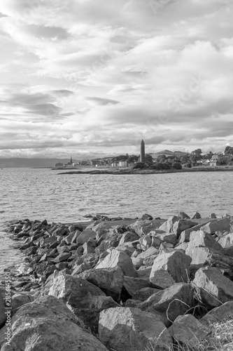 Photo Scottish Town of largs Looking North Past the Pencil Monument