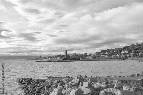 Scottish Town of largs Looking North Past the Pencil Monument Wallpaper Mural