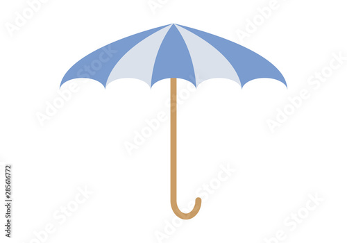 Paraguas azul para tiempo de lluvia en otoño e invierno. Wallpaper Mural
