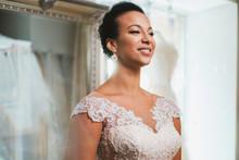Beautifu Bride Choosing Weddin...