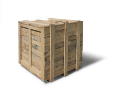 Wooden Crate Isolated On White