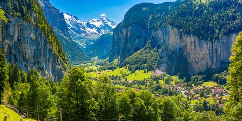 Mountain village Lauterbrunnen, Switzerland