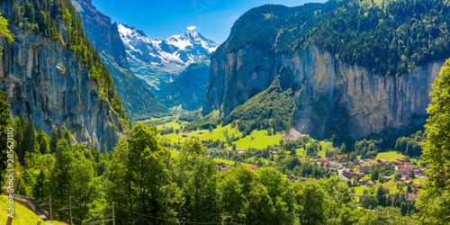 Mountain village Lauterbrunnen, Switzerland Wallpaper Mural
