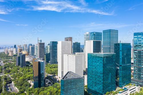 Photo city skyline in hangzhou china