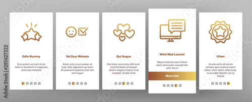Reviews Onboarding Mobile App Page Screen Vector Canvas Print