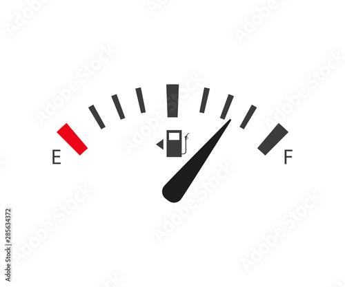 Slika na platnu full and empty tank set gasoline sensor, flat