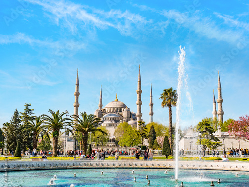 ISTANBUL, TURKEY - APRIL 21, 2018: The Blue Mosque, (Sultanahmet Camii), Istanbu Canvas Print