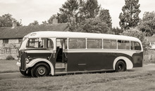 Vintage Bus On The Road