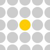 Dachówka wektor wzór w szare i żółte kropki na białym tle - 285646586