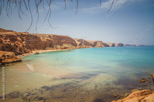 Sidi Elbachir Beach in a beautiful summer day in Morocco