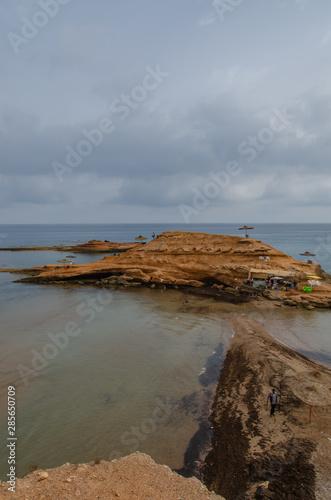 Sidi Elbachir Beach in a beautiful summer day in Morocco