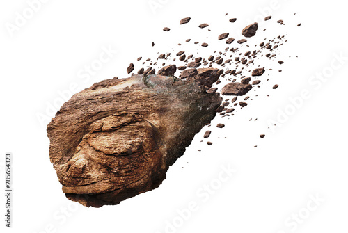 rock isolated on white background - 285654323