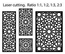 Laser Arabesque Pattern. Set O...