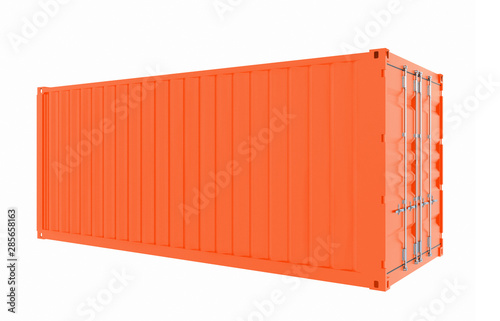 Obraz New red cargo container isolated on white background - fototapety do salonu
