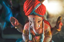 Ready For Lord Ganesha Colorful Statue For Ganesha Festival