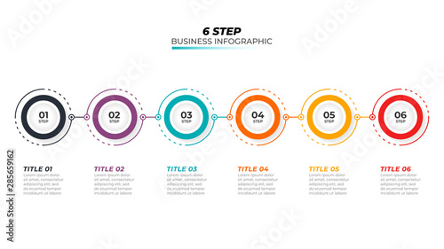 Papel de parede  Timeline infographic design vector and 6 number options