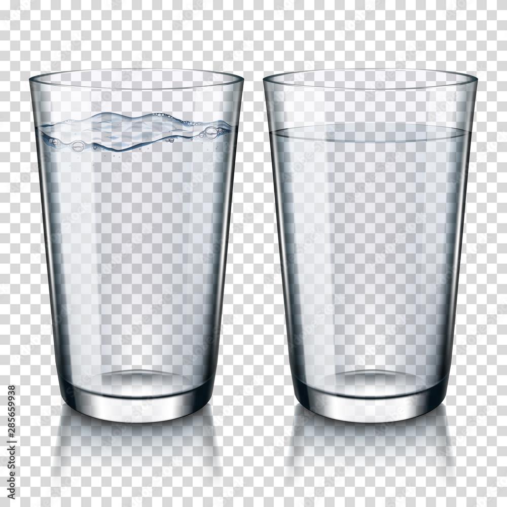 Fototapeta glass of water set, isolated