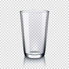 Empty Glass Isolated On Transparent Background