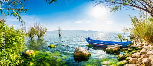 Landscape of Erhai Lake. Located in Dali, Yunnan, China.