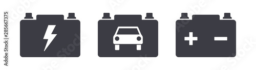 Obraz Car power battery symbol icons - fototapety do salonu