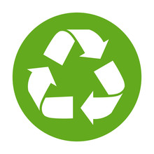 Simple Green Recycling Symbol ...
