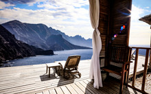 Wooden Terrace And Mountains L...