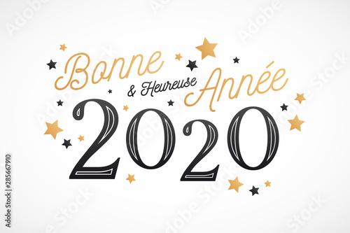 Bonne et Heureuse Année 2020, carte de voeux Wallpaper Mural