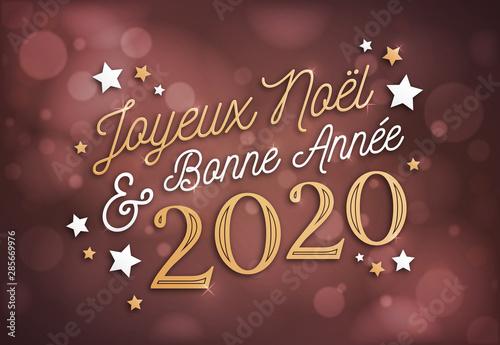 Joyeux Noël et Bonne Année 2020, carte de voeux   Buy this stock