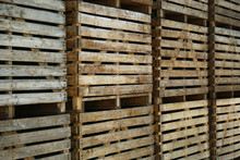 Pile Of Empty Wooden Crates Ou...