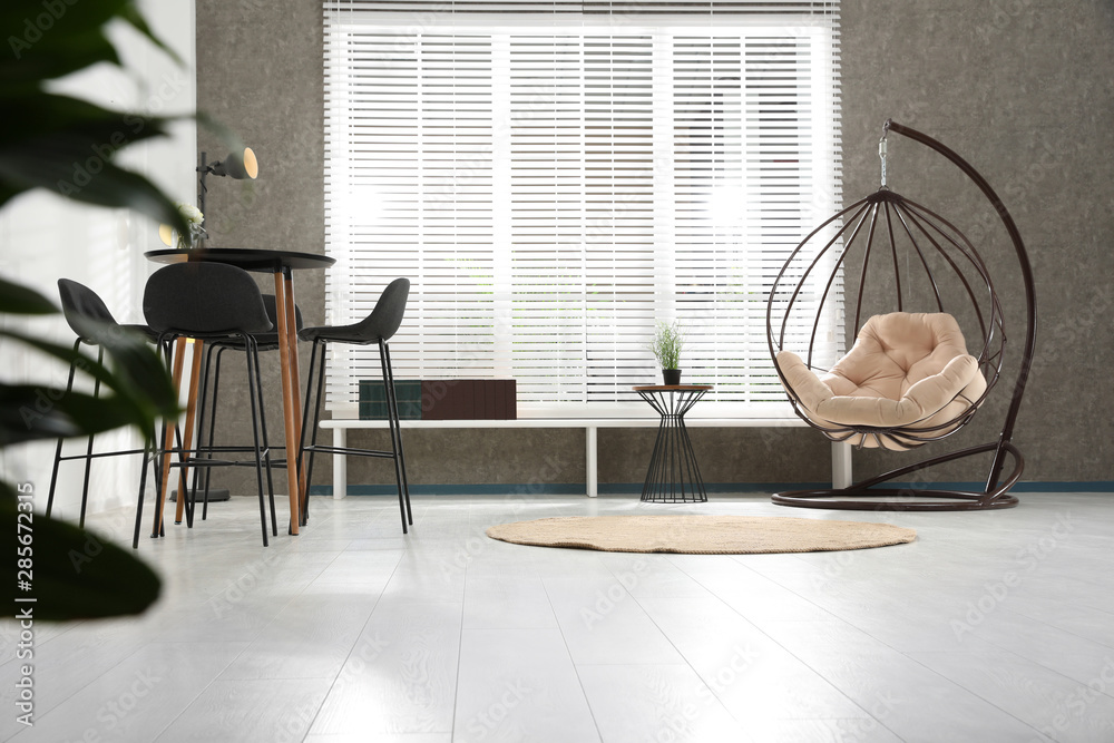 Fototapety, obrazy: Modern room interior with stylish comfortable furniture