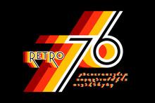 Retro Style Colorful Font Desi...