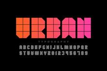 Urban Style Font Design, Alpha...