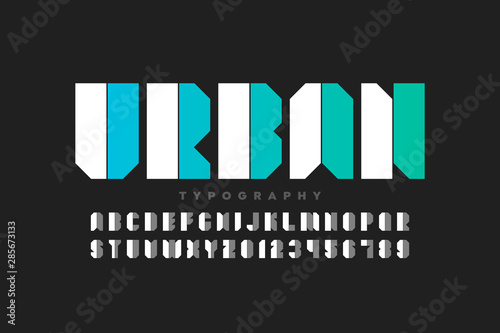 Obraz Urban style font design, alphabet letters and numbers - fototapety do salonu
