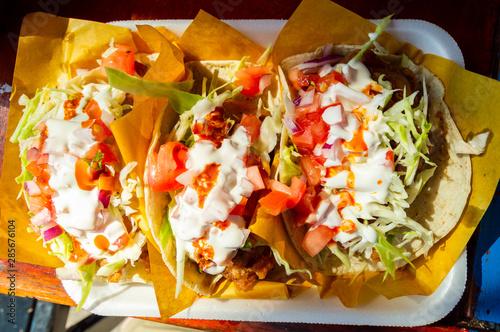 Fish tacos, Baja California style tacos Canvas Print