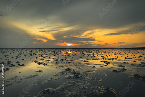 Fotografia Sunset over the Mudflat - Büsum - Northern Germany